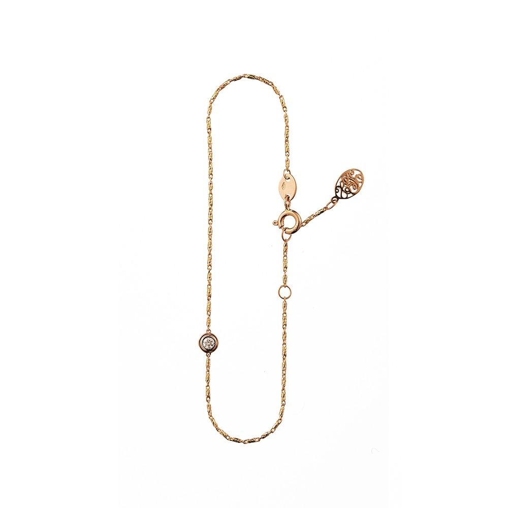 [diamante] Dia1_YellowPink_Bracelet_17.5cm
