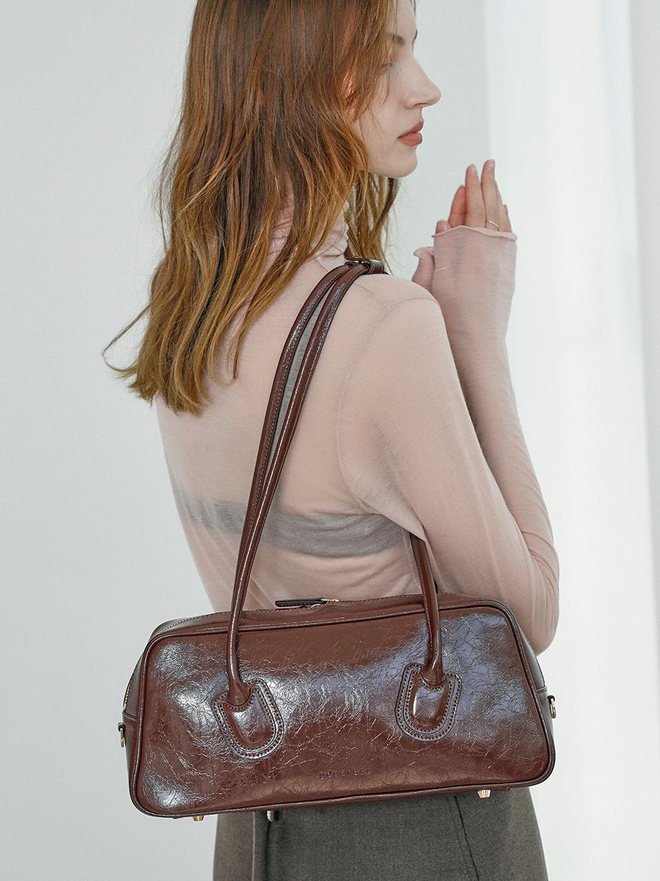 [ndearose] Standard bag_Glossy Choco Brown
