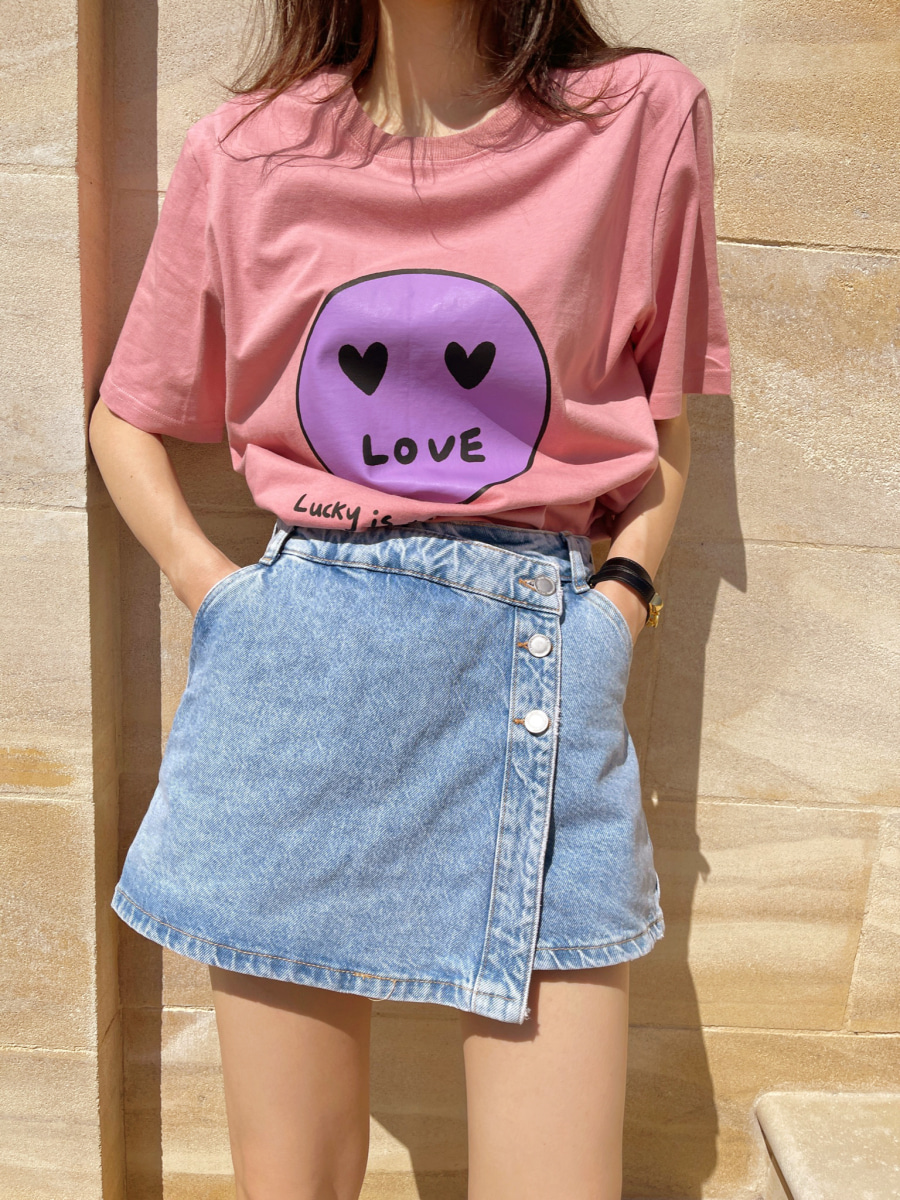 [44% SALE] Smile T-shirts [pink]