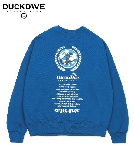 D-LINK GLOBE CREWNECK CLASSIC BLUE