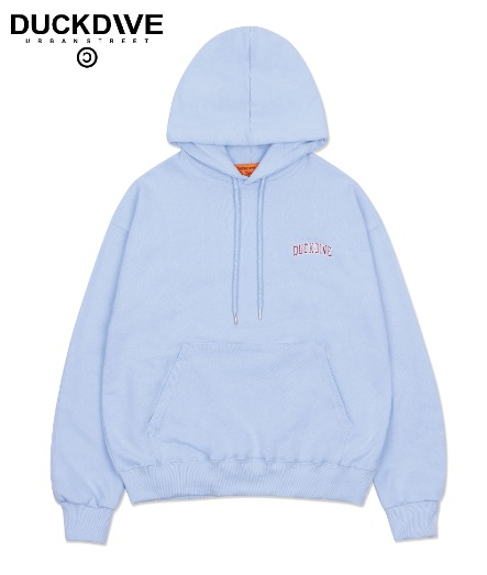 UNIVERSITY LOGO HOODIE LIGHT BLUE