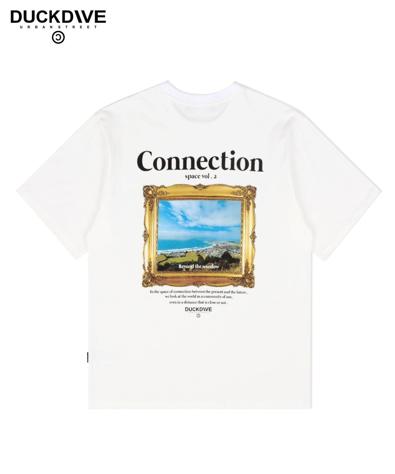 오션 뷰 티셔츠 아이보리