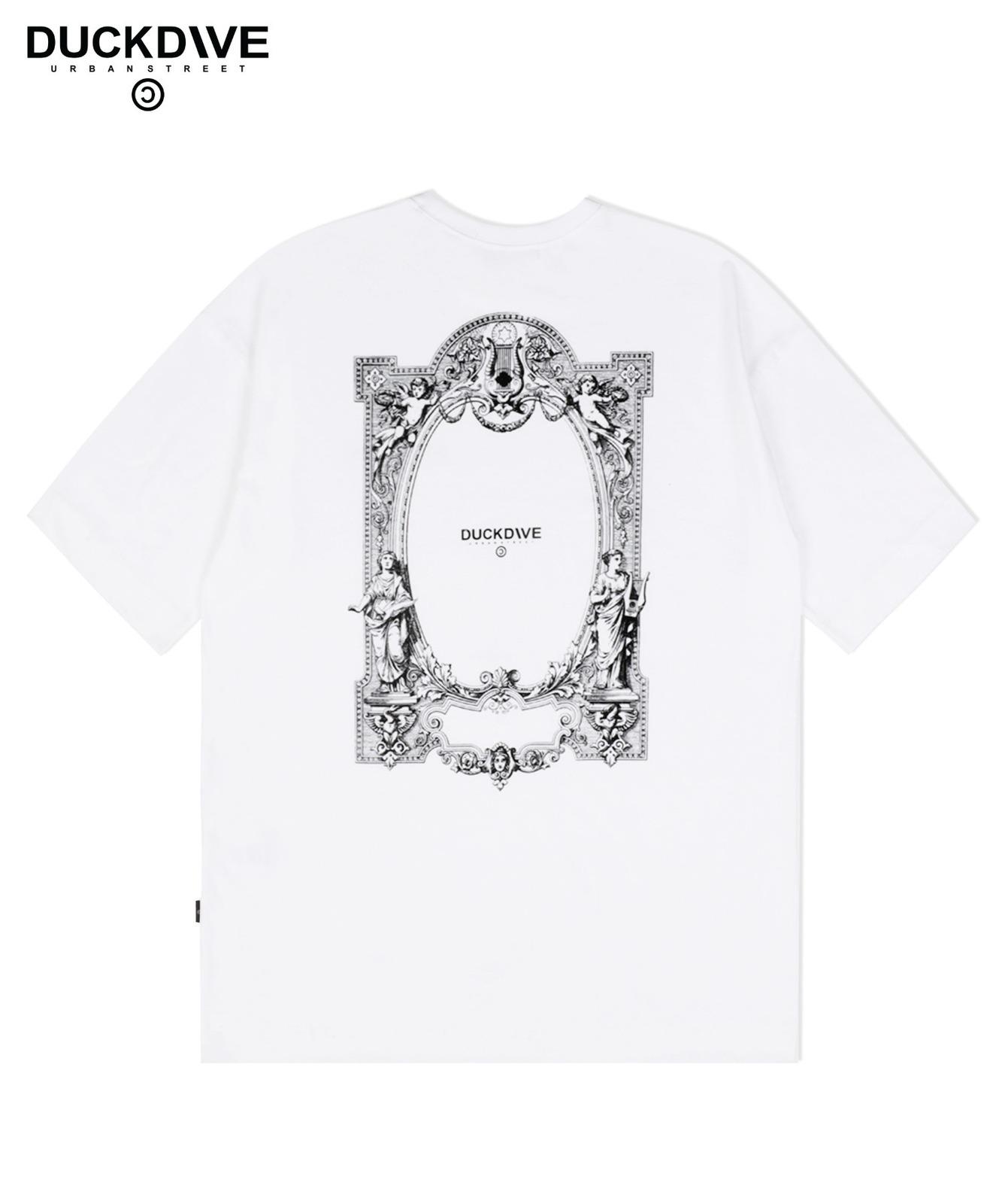 스페이스 도어 오버핏 티셔츠 화이트