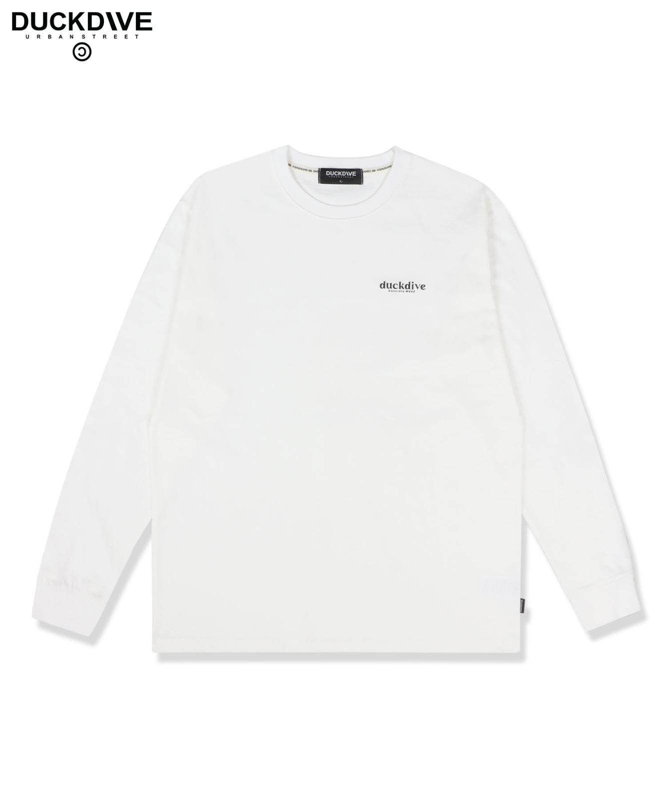 로고 롱슬리브 티셔츠 화이트