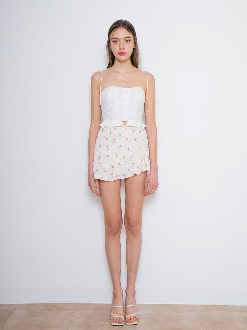 화사 착용 Lace bustier sleeveless (white)