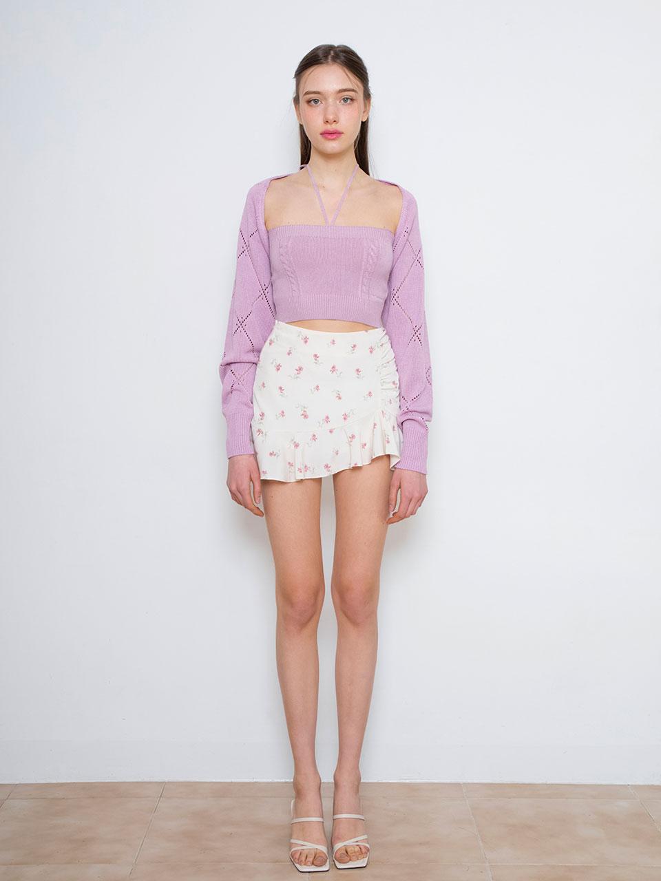 [7월30일 예약배송][2차 8월23일 예약배송] 소녀시대 서현 착용Crystal knit bolero set (purple)