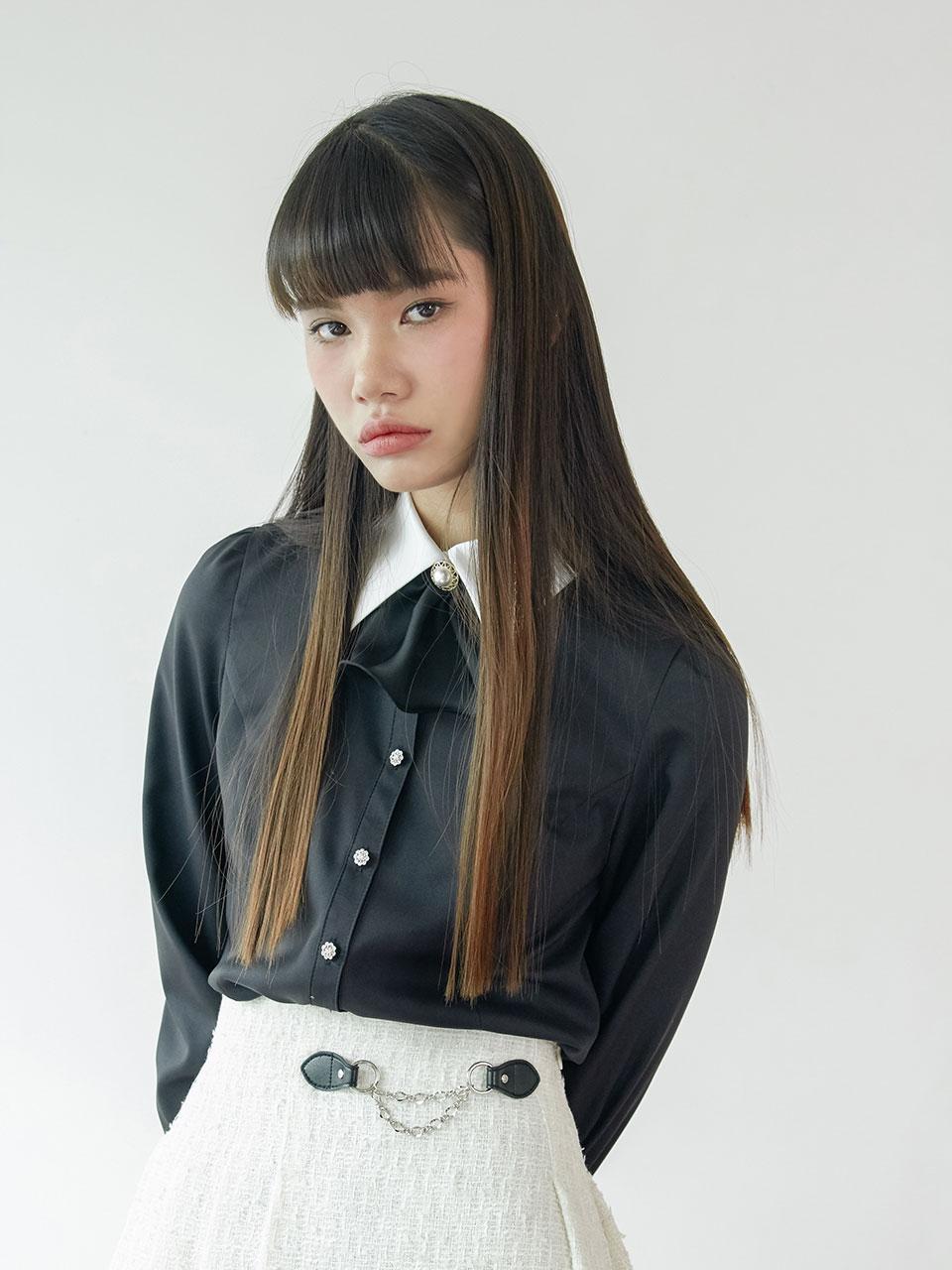 20SS Basic puff blouse (black)