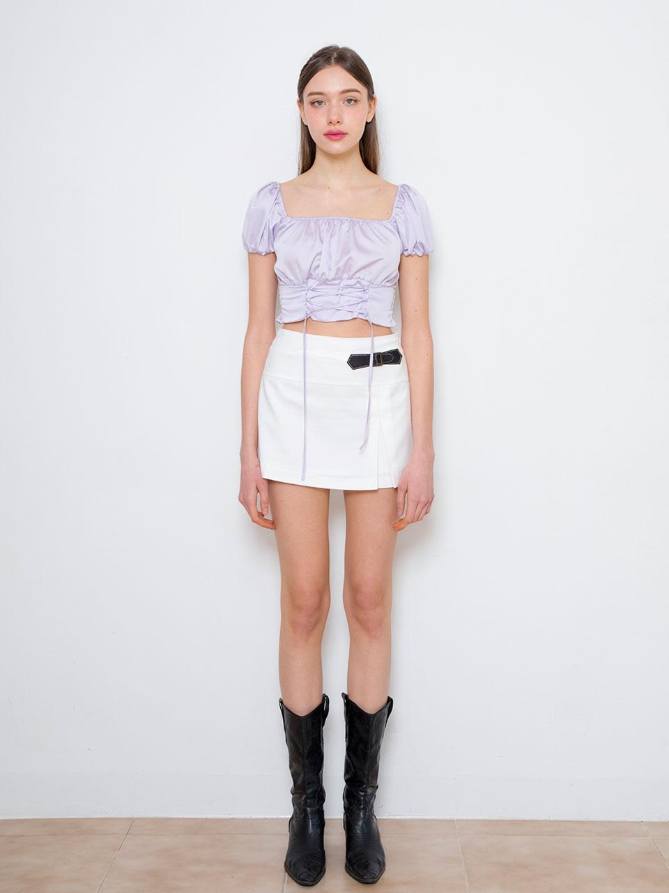 Corset crop blouse (purple)