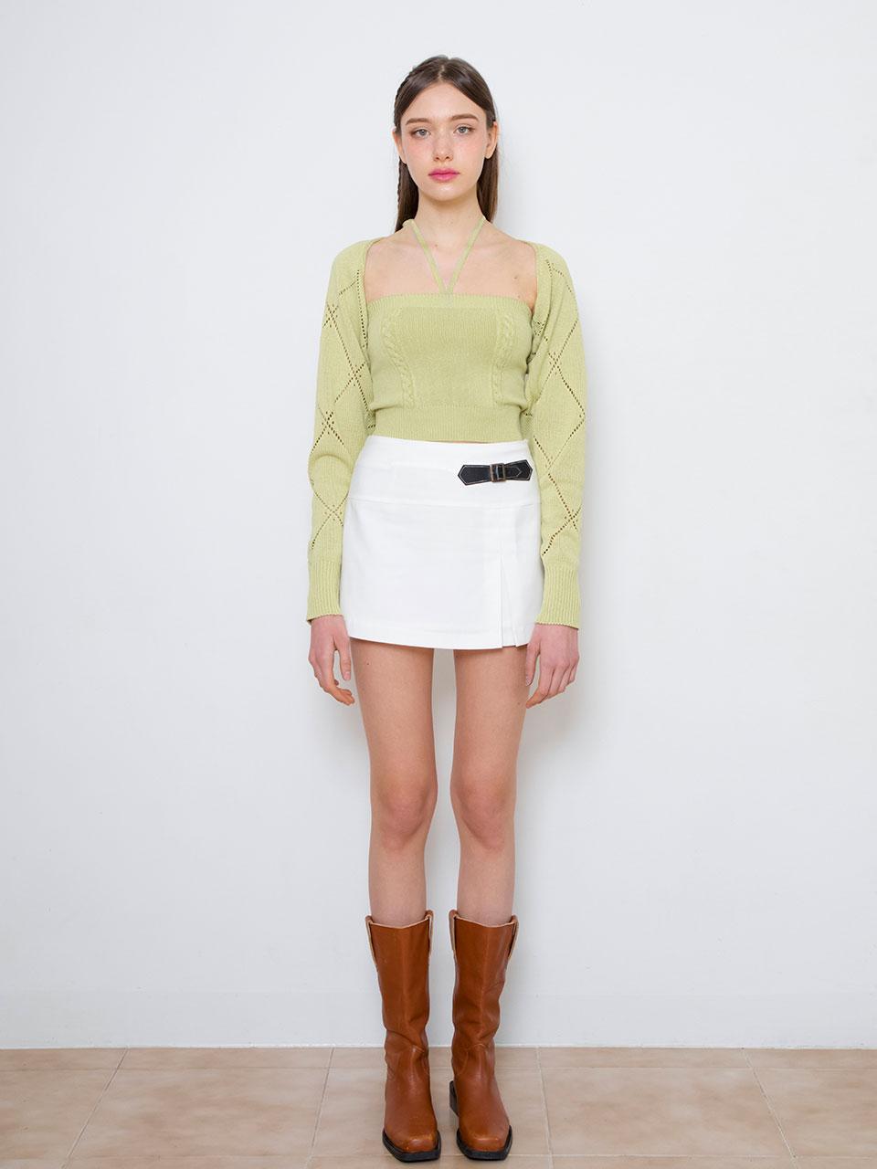 트와이스 나연 착용 Crystal knit bolero set (light green)