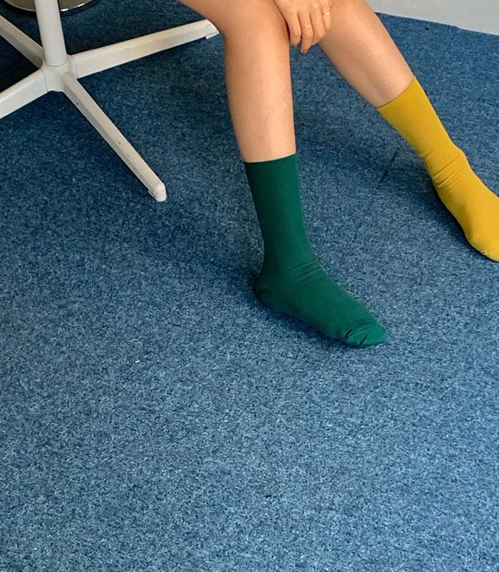 Soft color socks (5color)