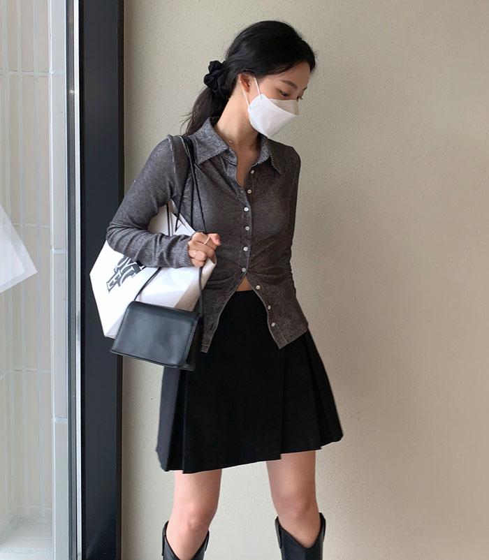 Wrap mini skirt (2color)