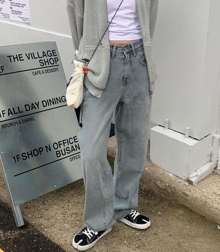 Light gray blue jeans