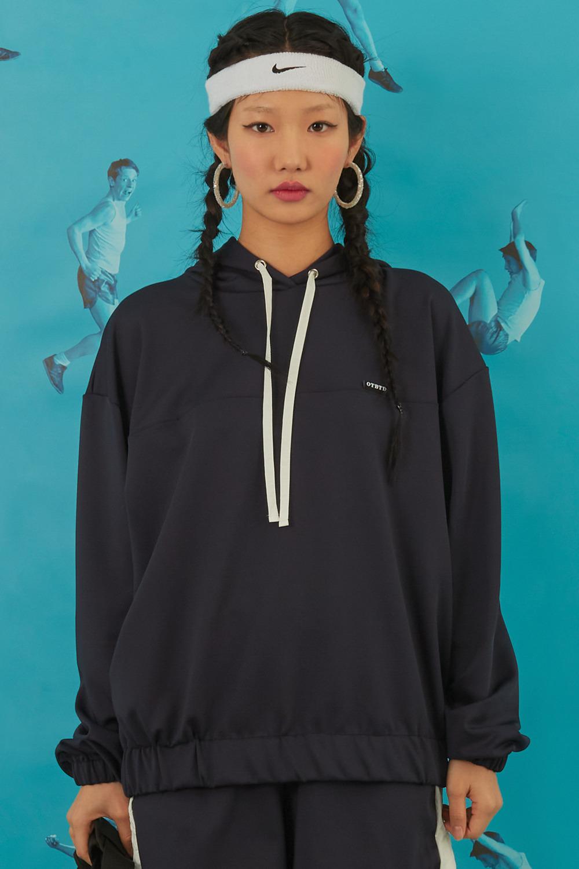 Jersey Oversized Hoodie [Navy]