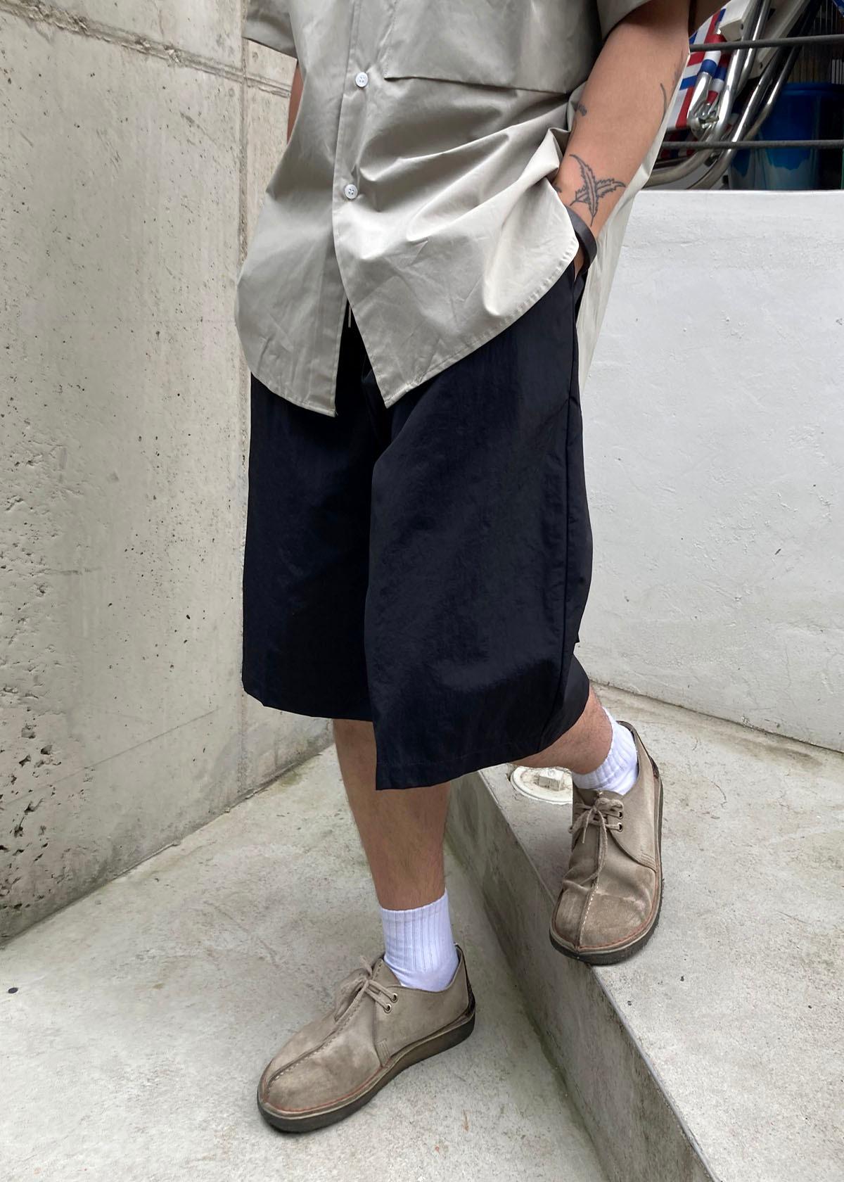 5' Nylon Wide Half Shorts (2Color)