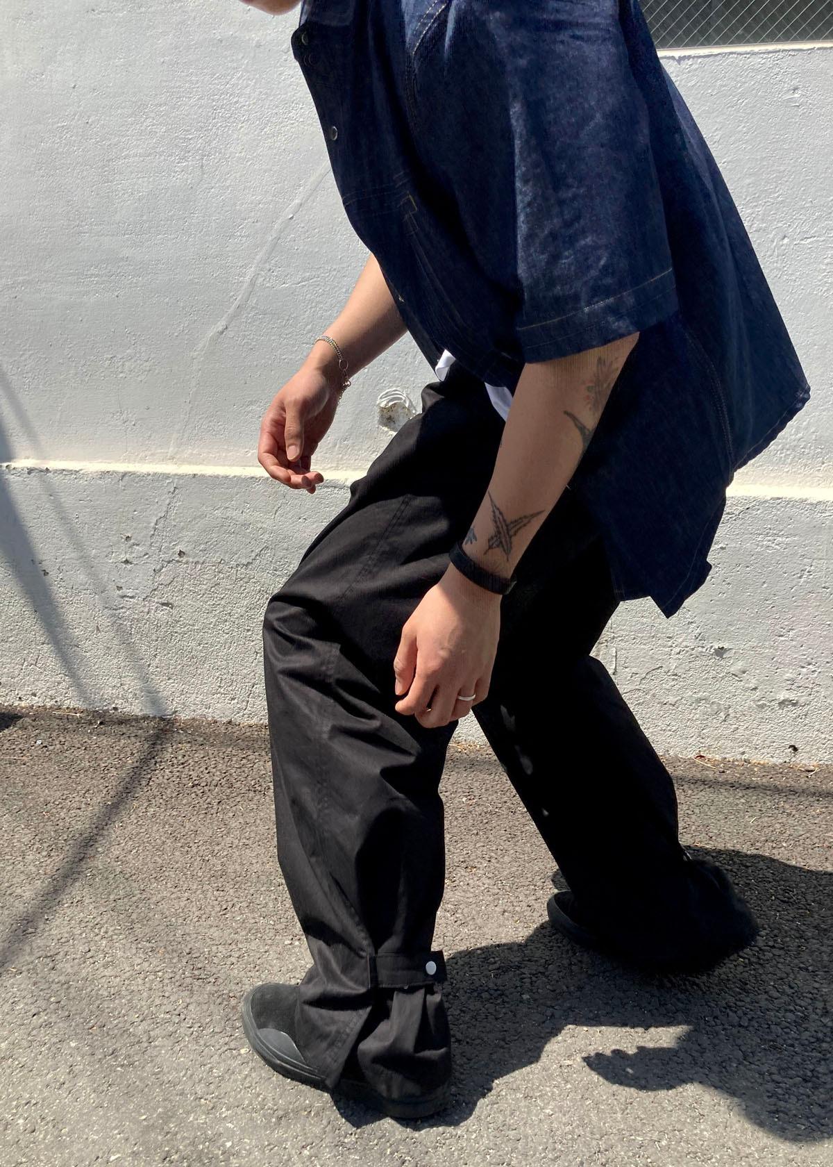 Back Snap Button Wide Pants (2Color)