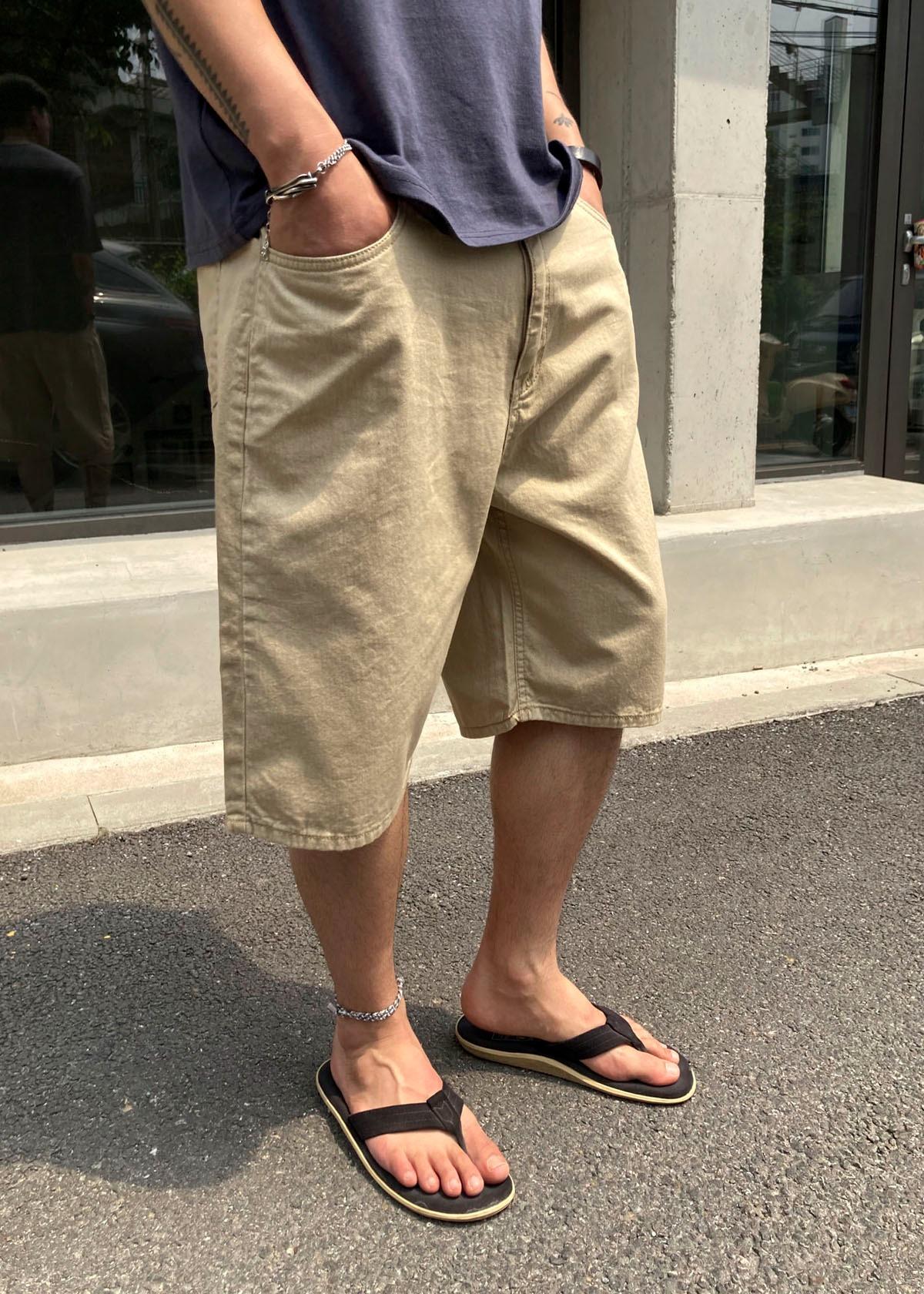 Linen Waist Strap Half Shorts (3Color)