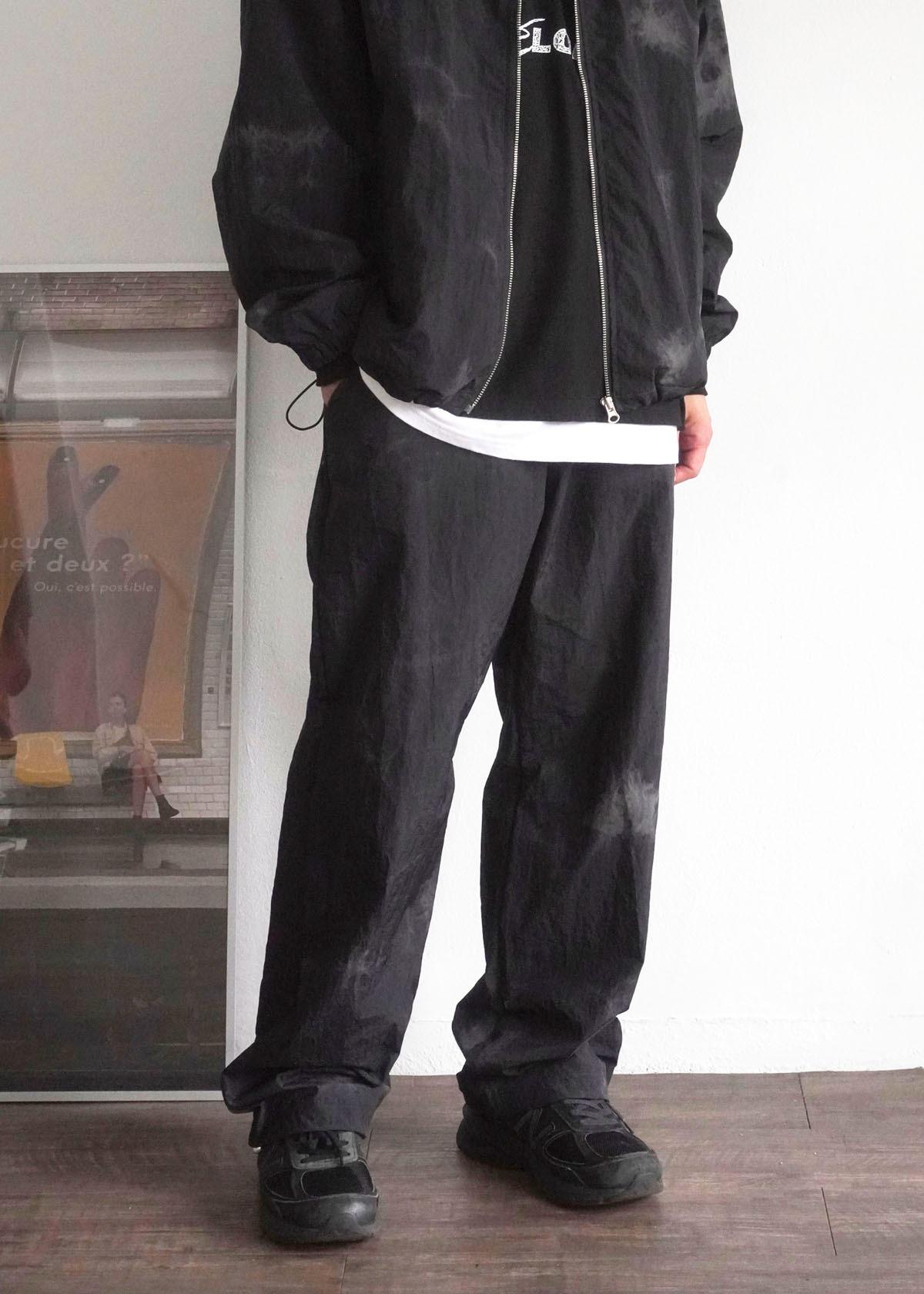 Tie-dye String Stoper Wide Pants (black)