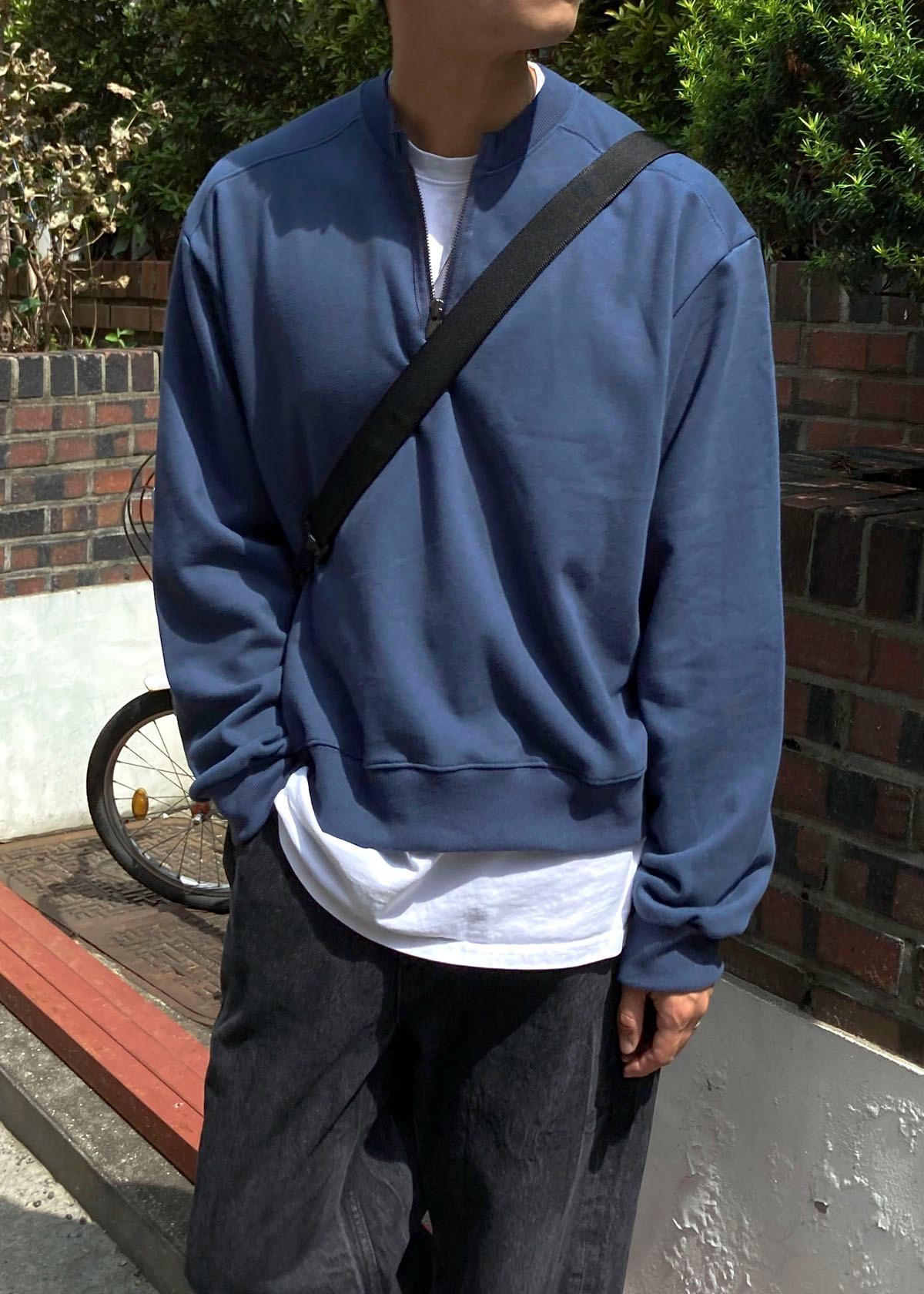 Round Half Zip-up Sweatshirts (3Color)