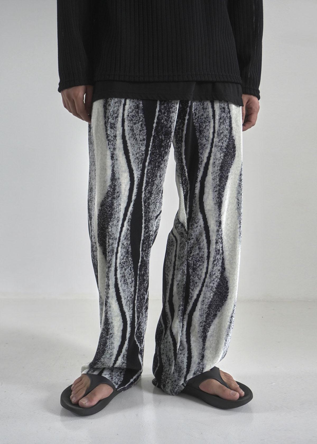 Wave Pleats Banding Pants (2Color)