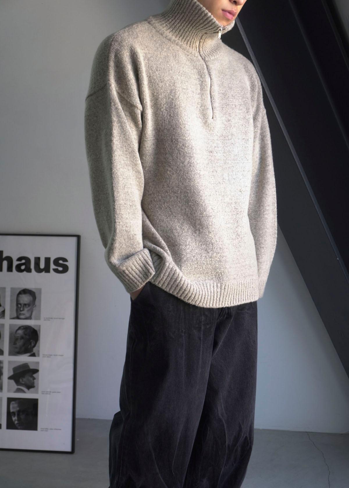 Soft Half Zip-up Knit (6Color)