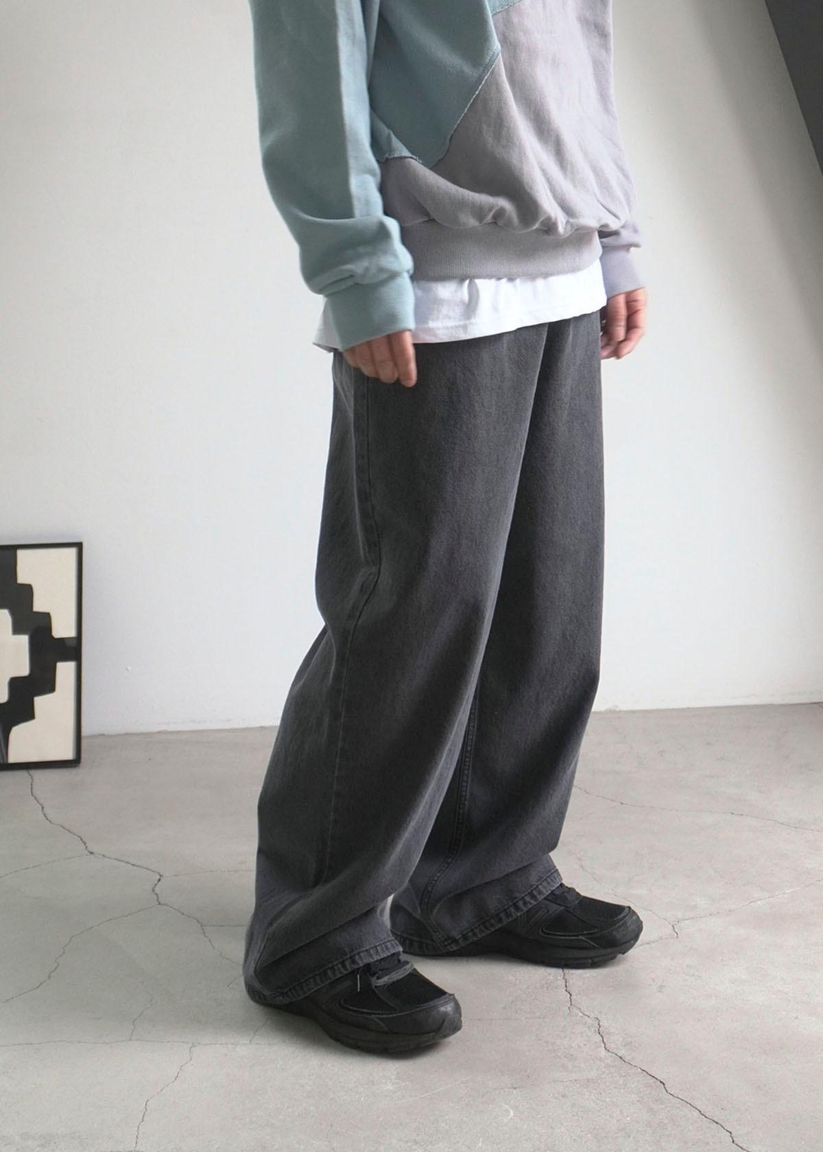 Cozy Spring Denim Wide Pants (2Color)
