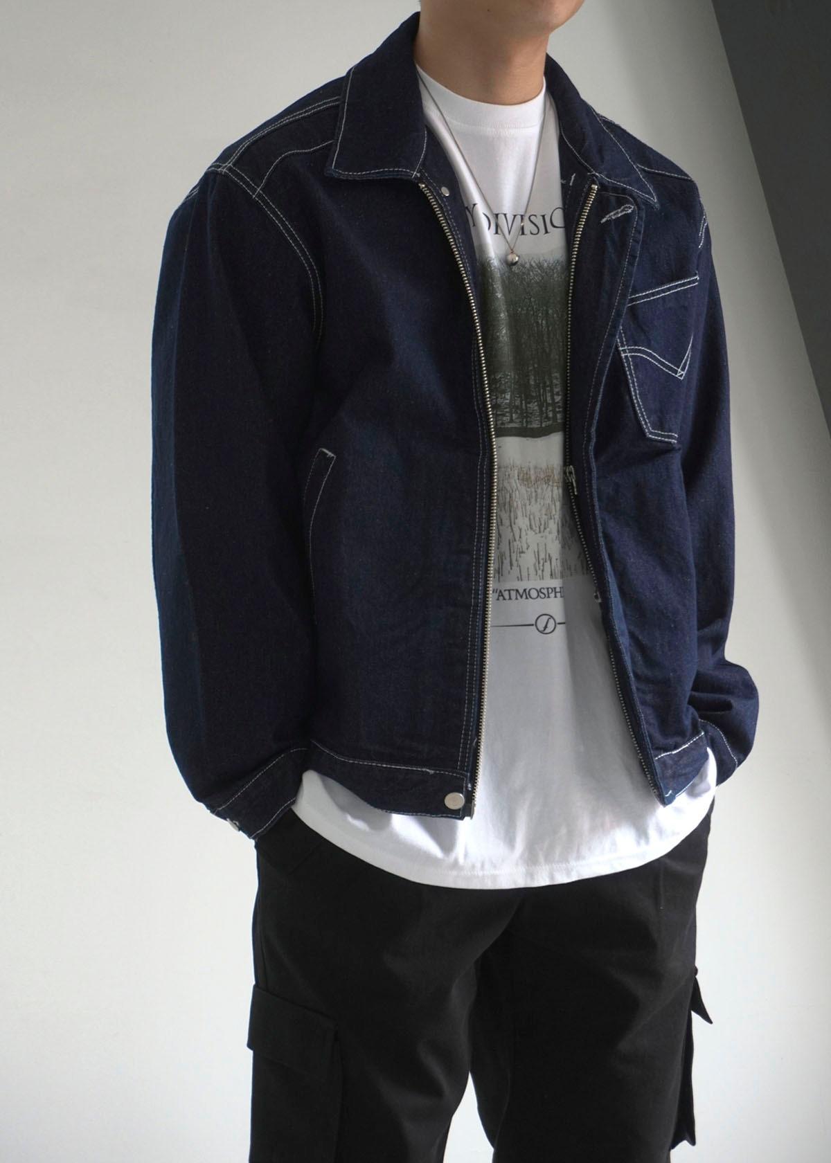 Stitch Deepblue Denim Trucker Jacket