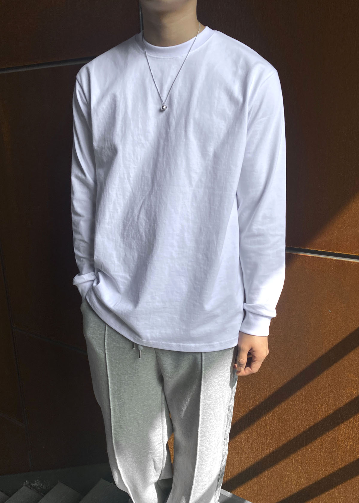 Loose Cotton Long Sleeve Tee (5Color)