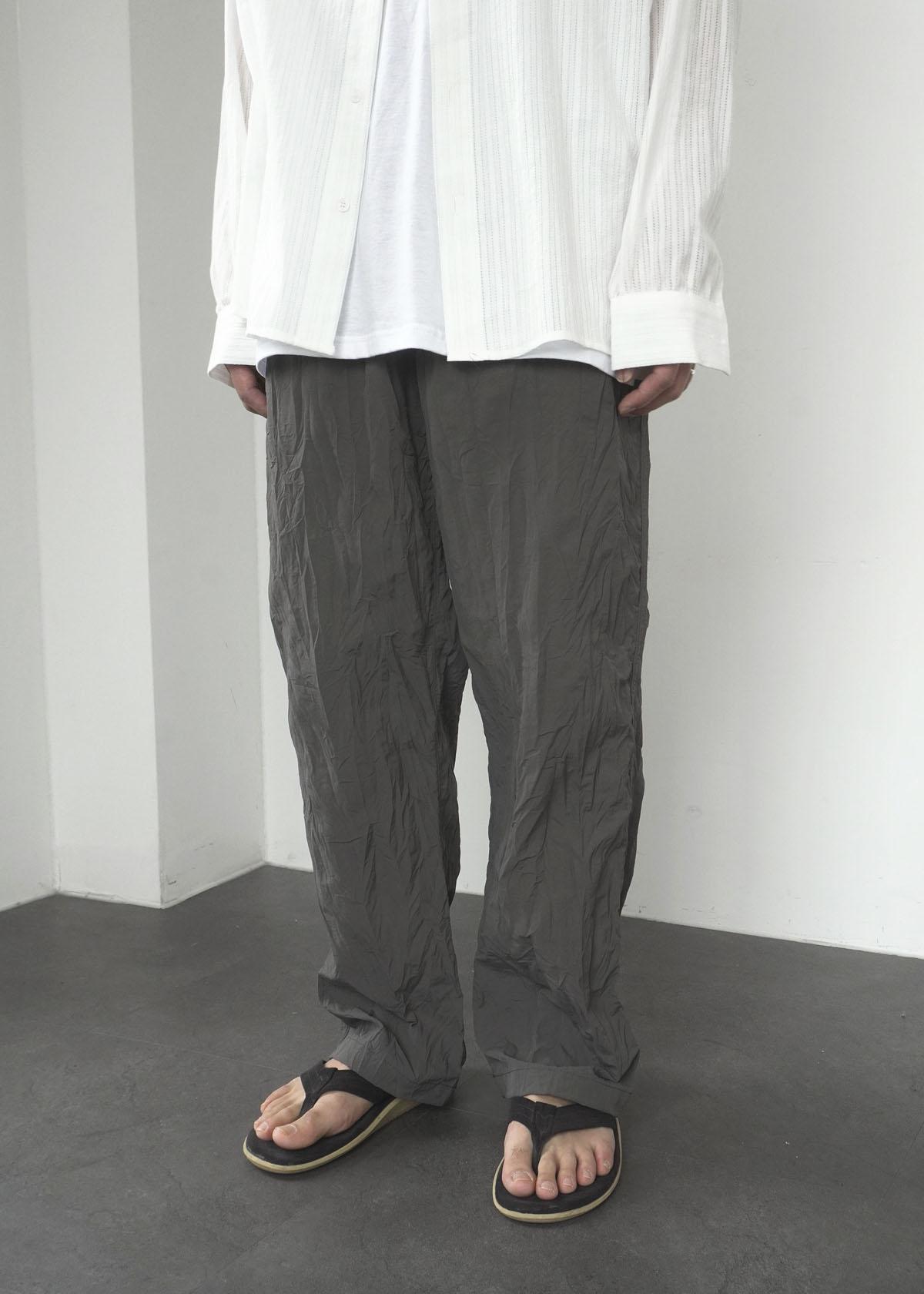 Wrinkle Nylon Wide Pants (3Color)