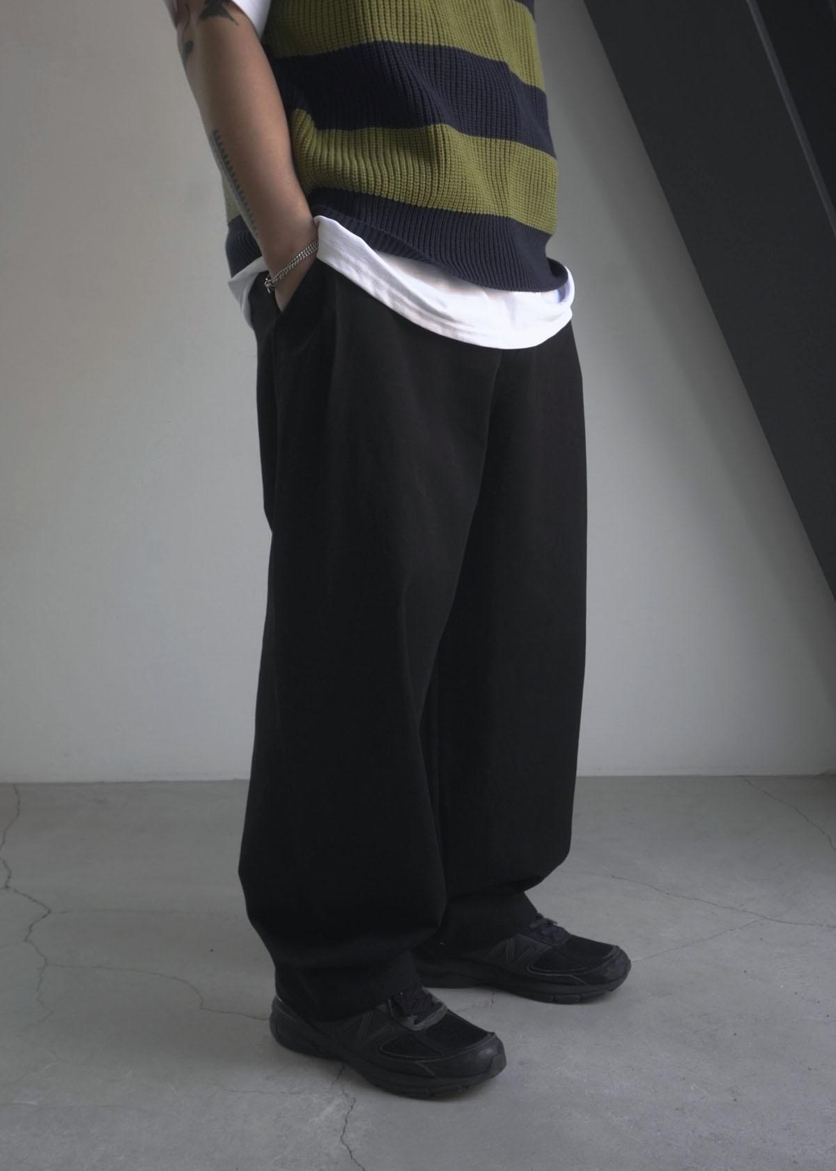 Side Pintuck Cotton Wide Pants (3Color)