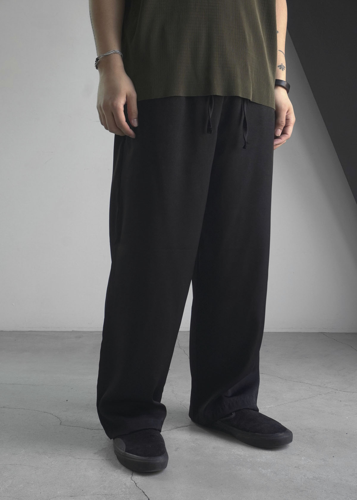 Satin Silky Wide Pants (3Color)