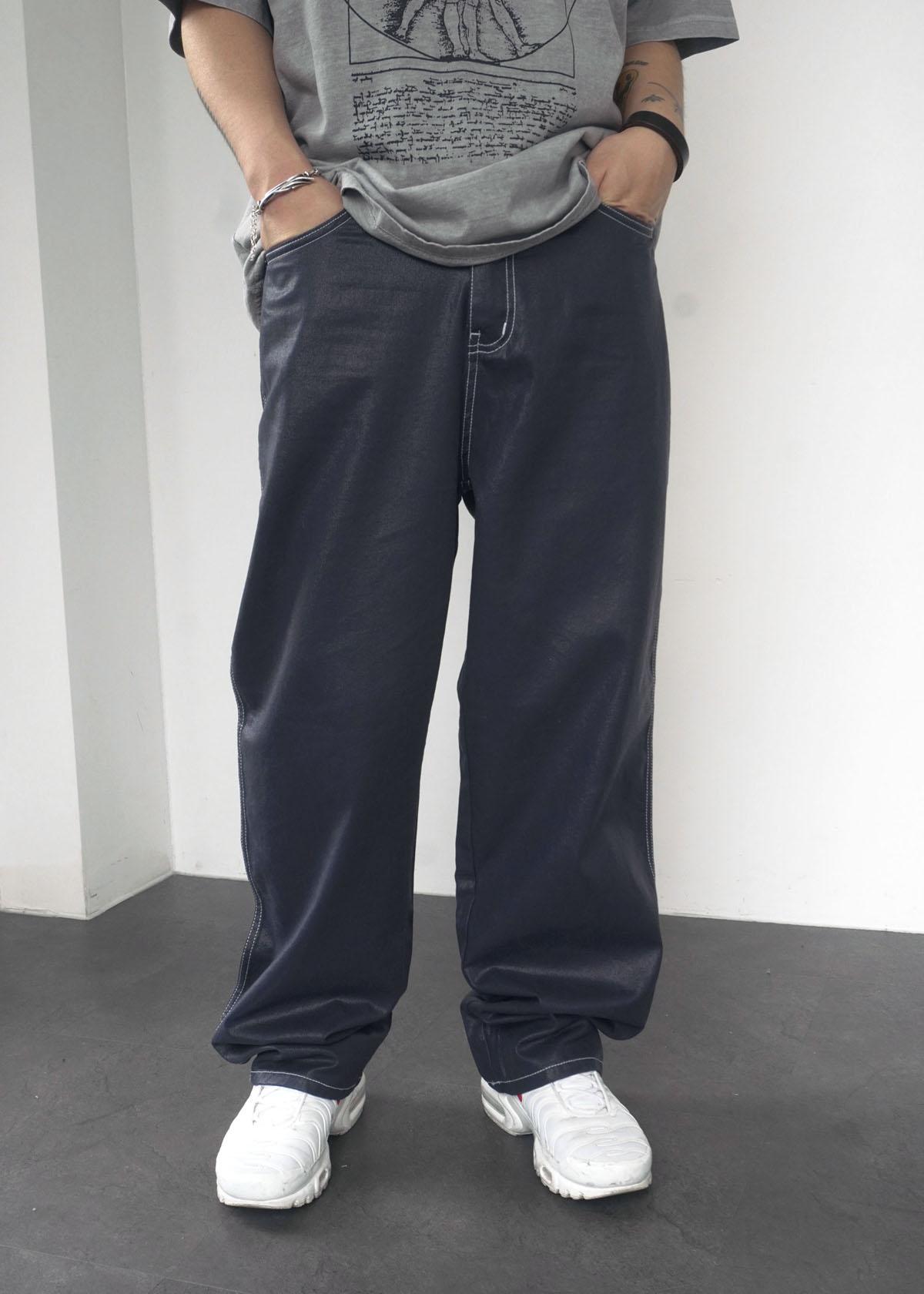 Coating Stitch Wide Pants (2Color)