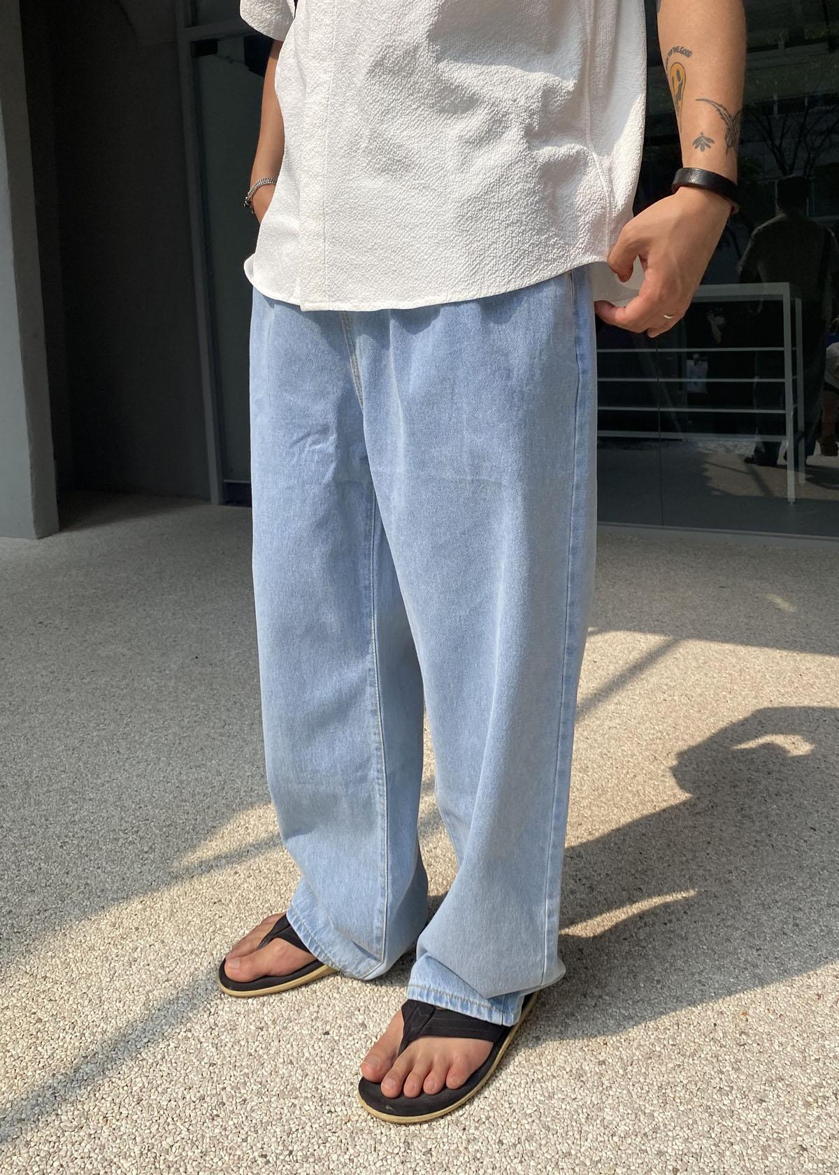Pulse Wide Light Blue Denim Jeans