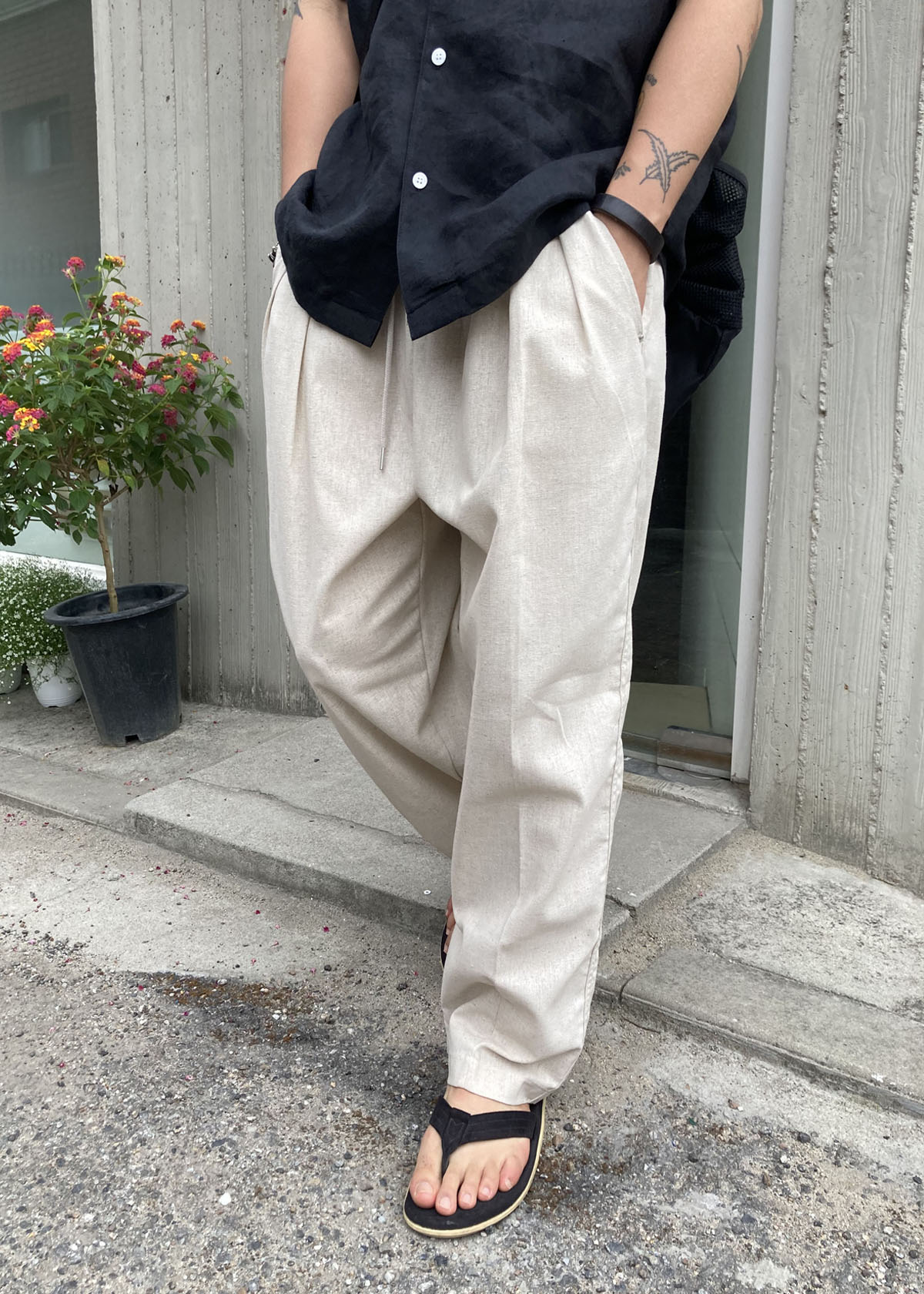 Inside Two Tuck Wide Pants (3Color)