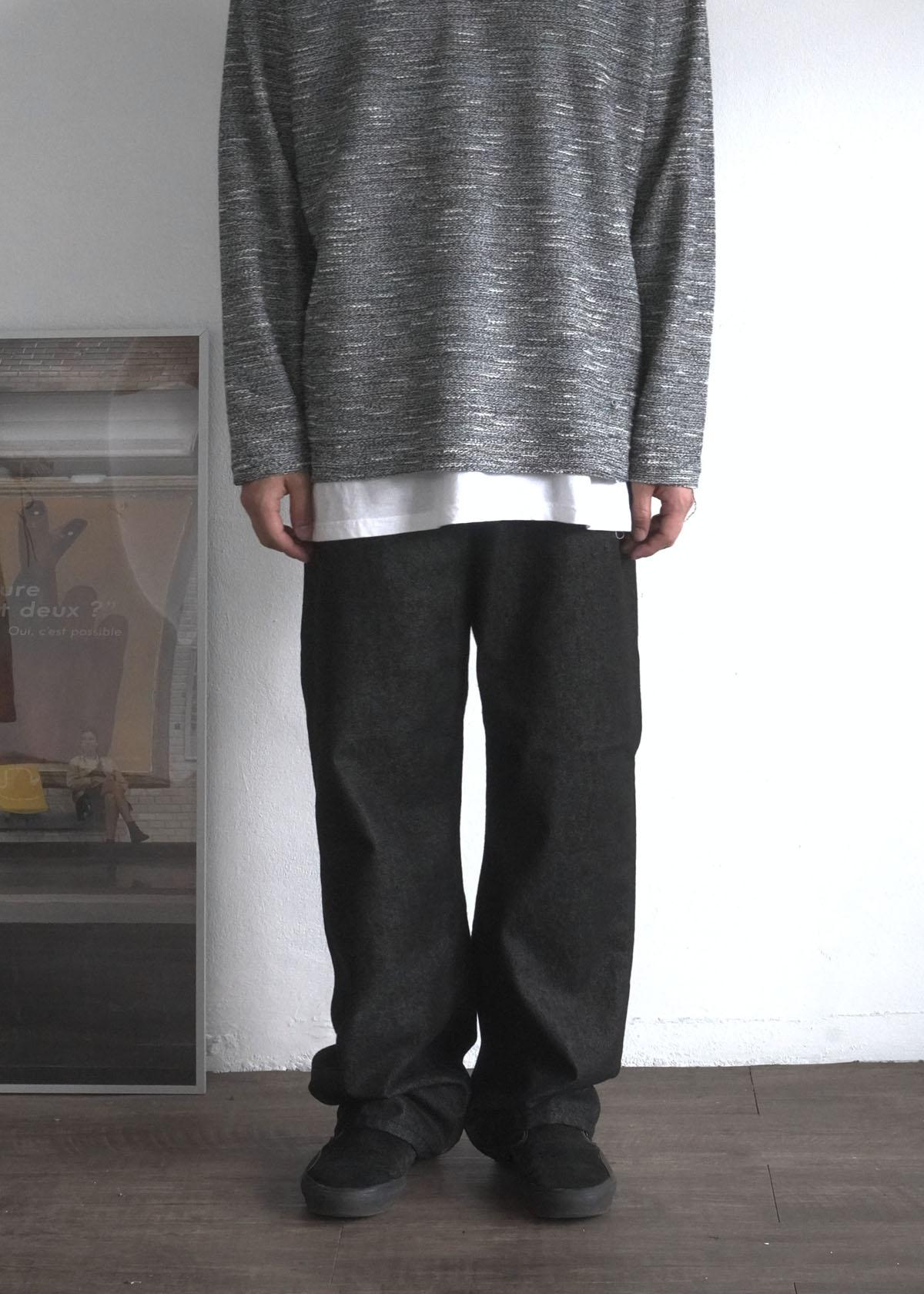 Basic Wide Black Denim Pants