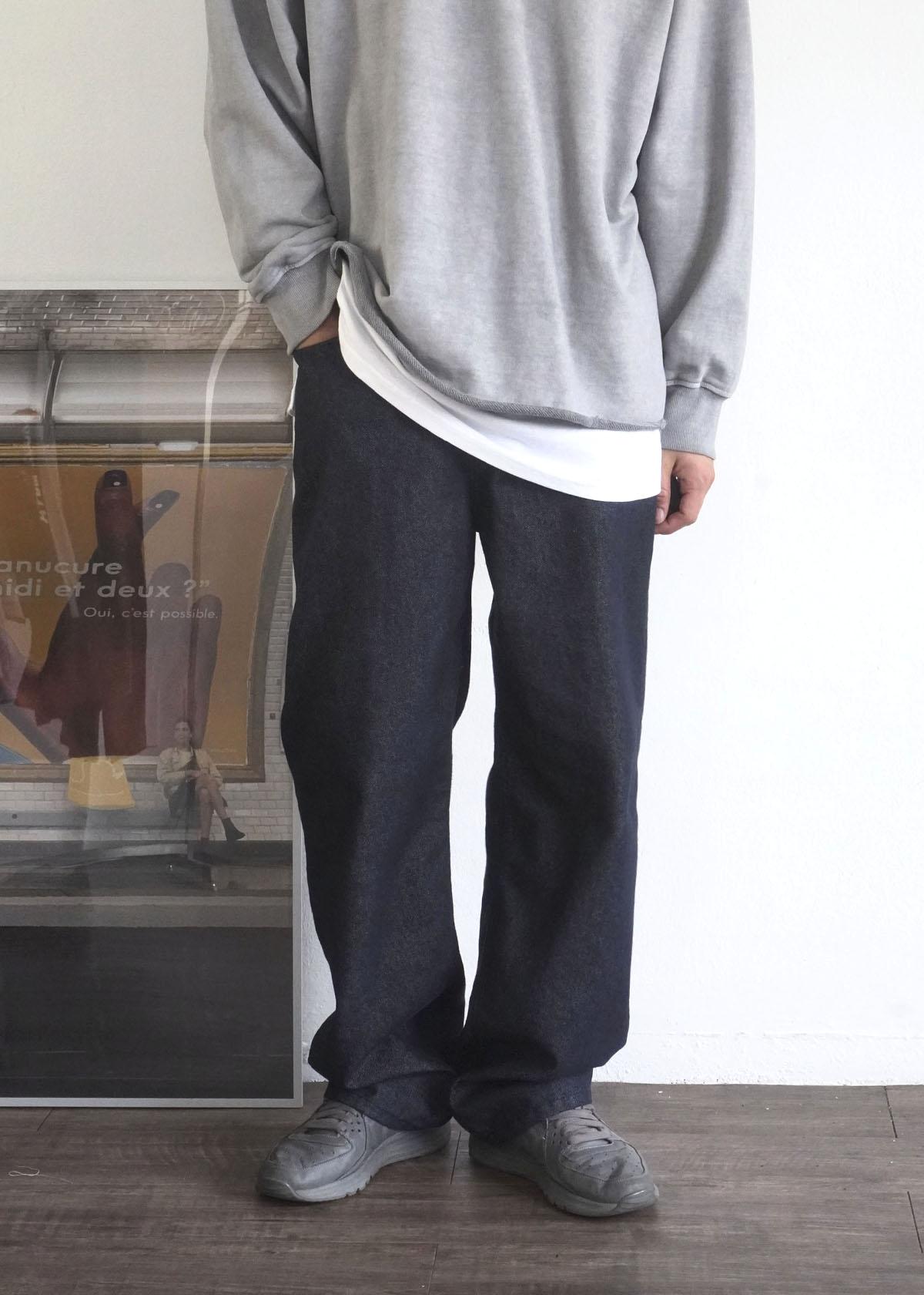 Raw Baisc Wide Denim Jeans