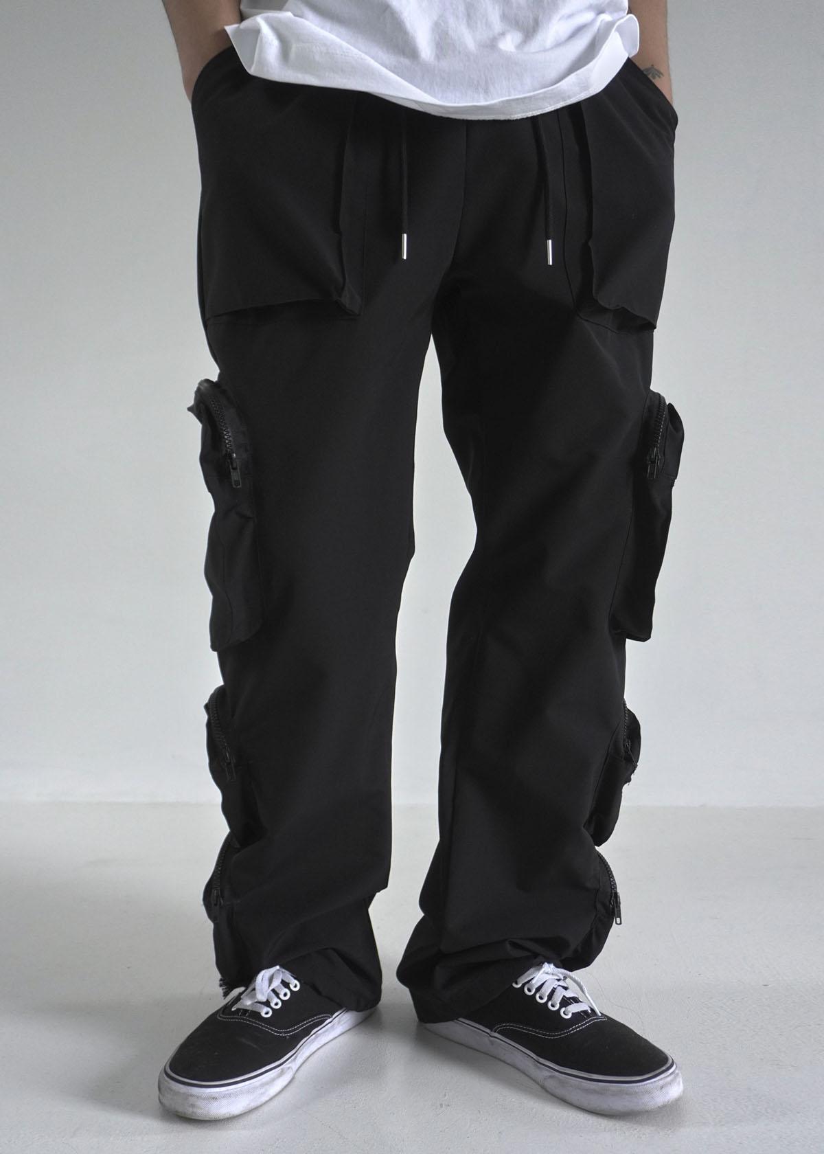Multi Pocket Banding Pants (2Color)