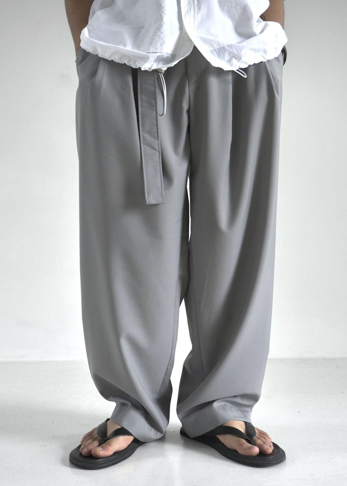 Dressy Belted Wide Slacks (3Color)