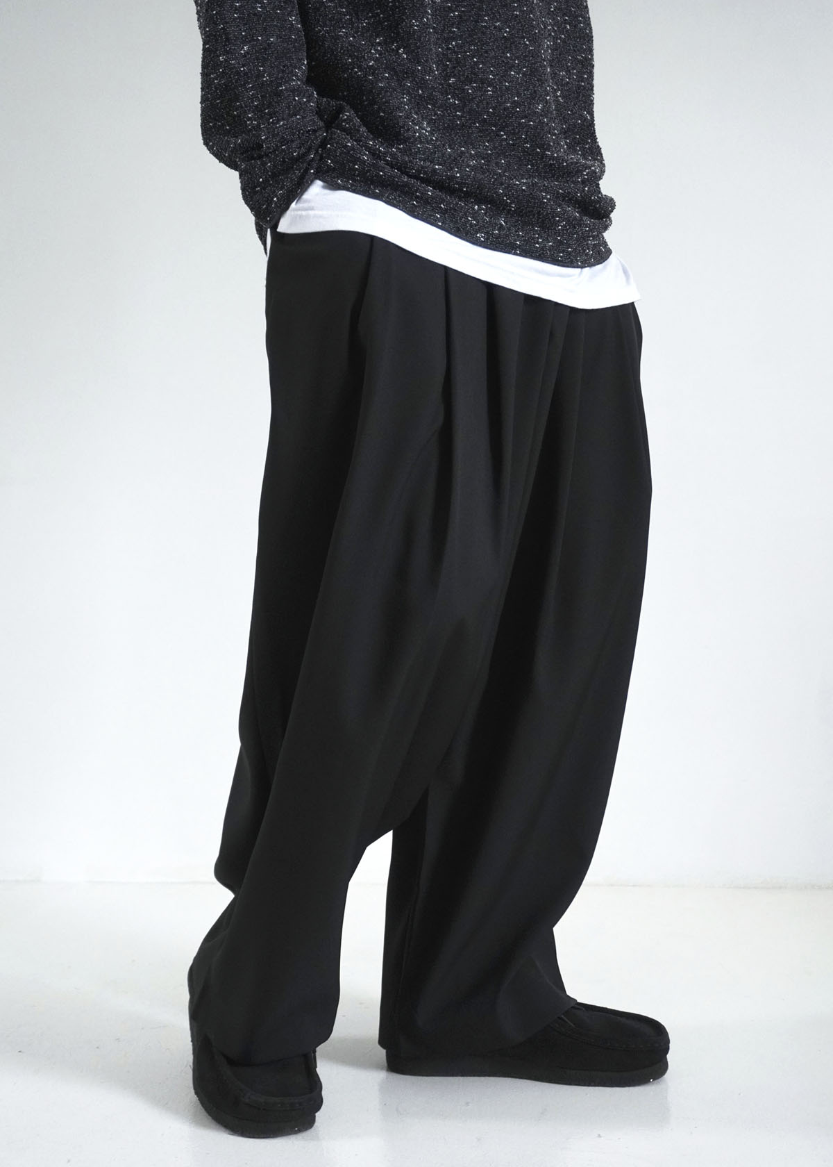 Silky Draped 3 Tuck Wide Pants (3Color)