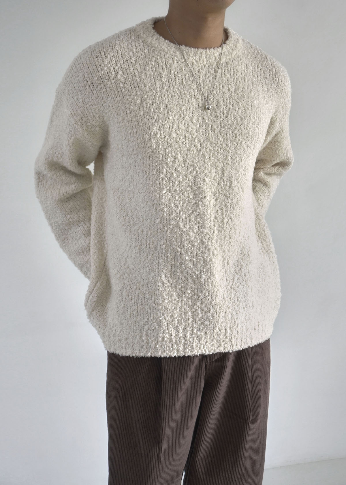 Volume Sleeve Boucle Knit (3Color)