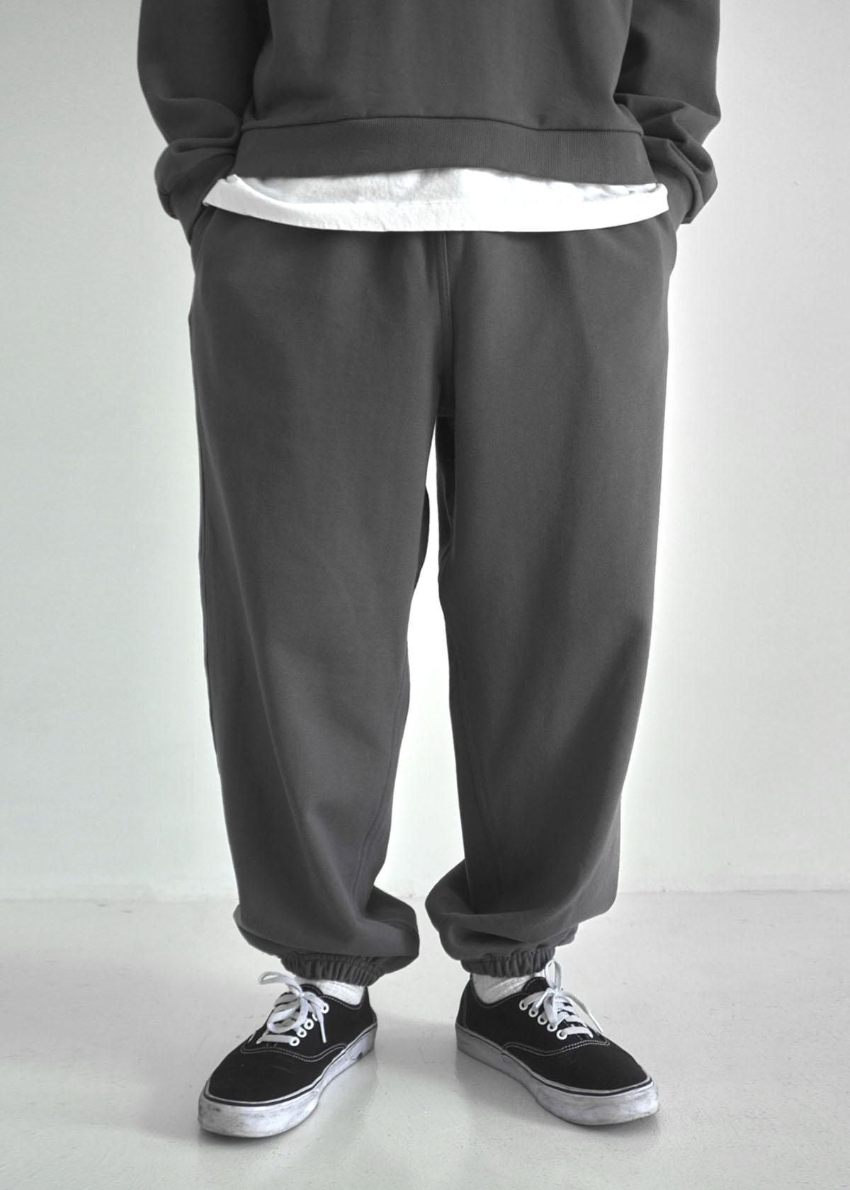 Heavy Cotton Wide Jogger Sweatpants (4Color)