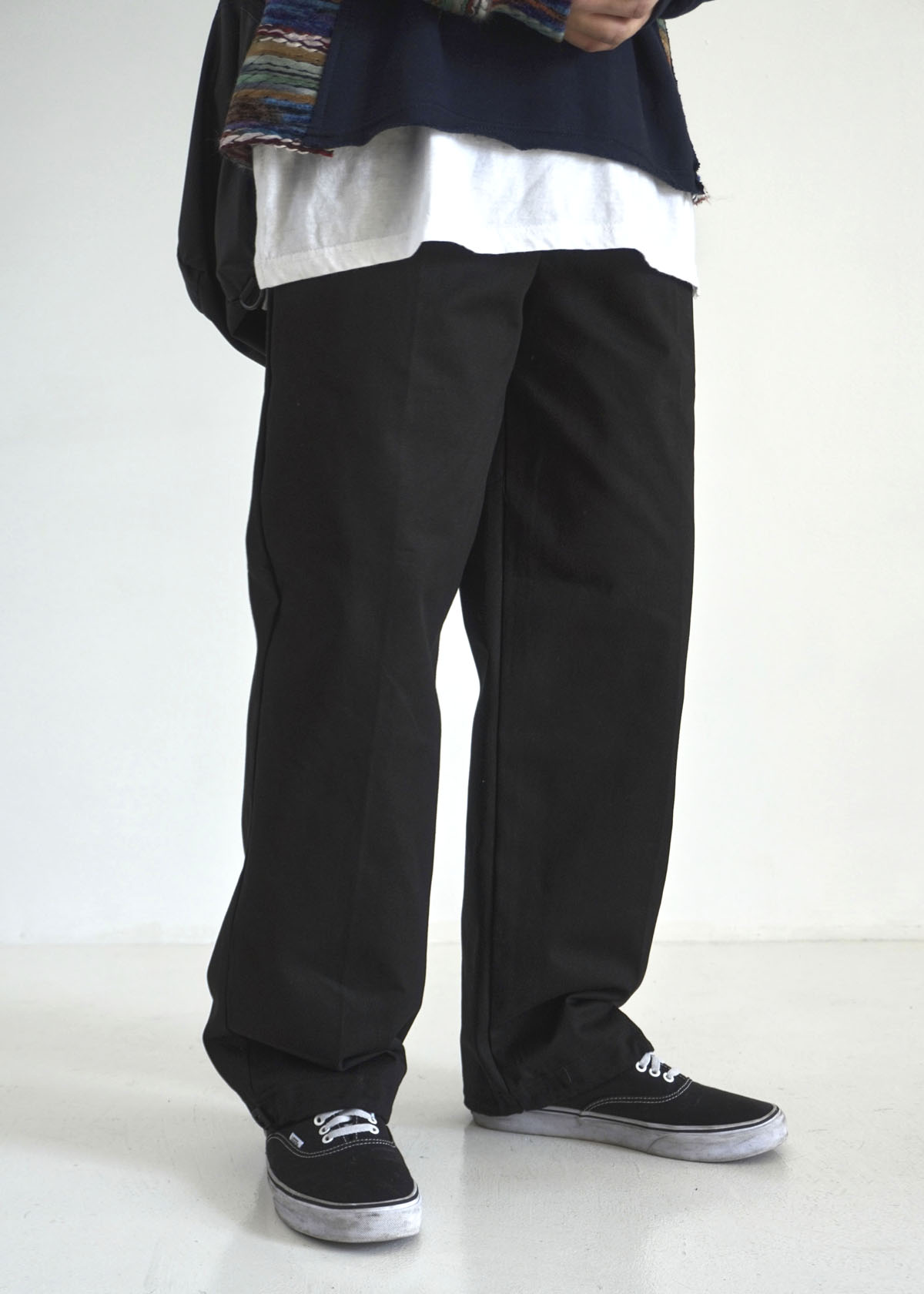 Twill Cotton String Wide Pants (3Color)