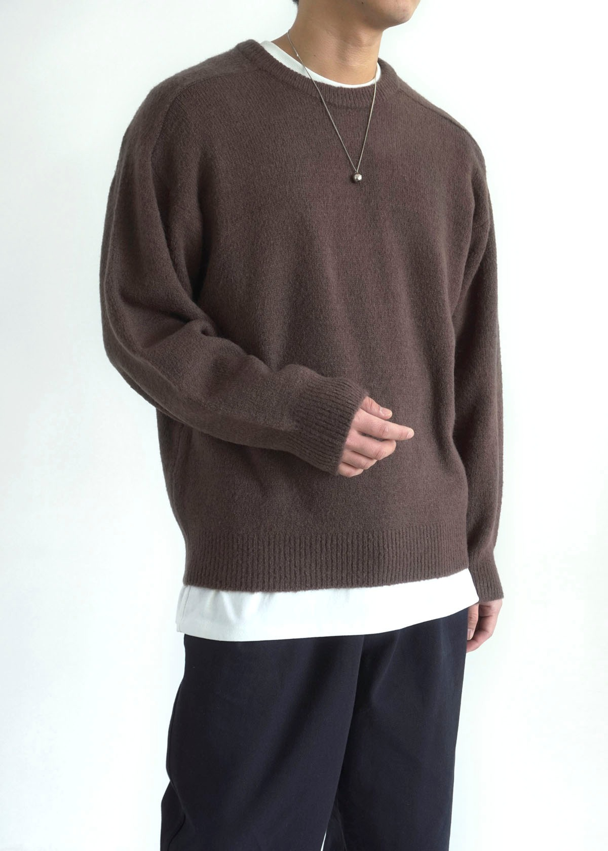 Hairy Boucle Round Knit (3Color)