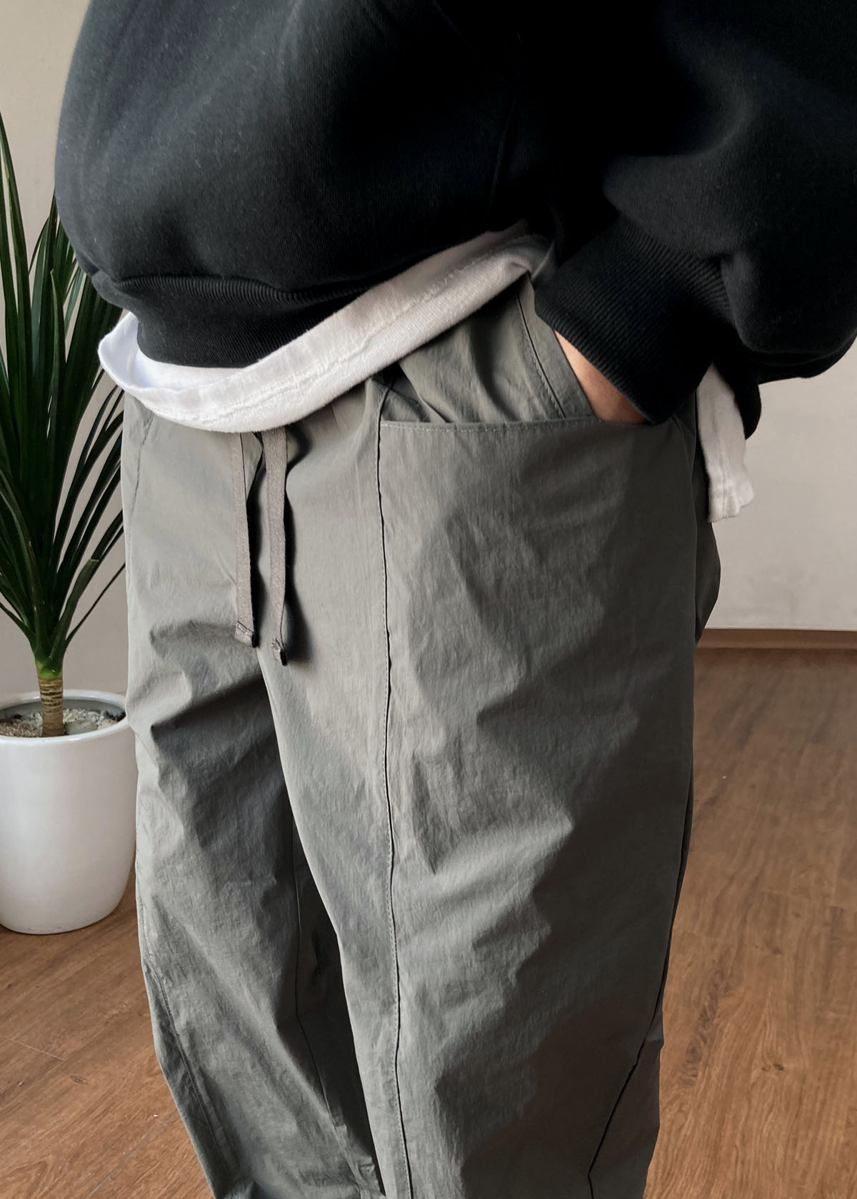 Two Pocket Incision String Pants (2Color)