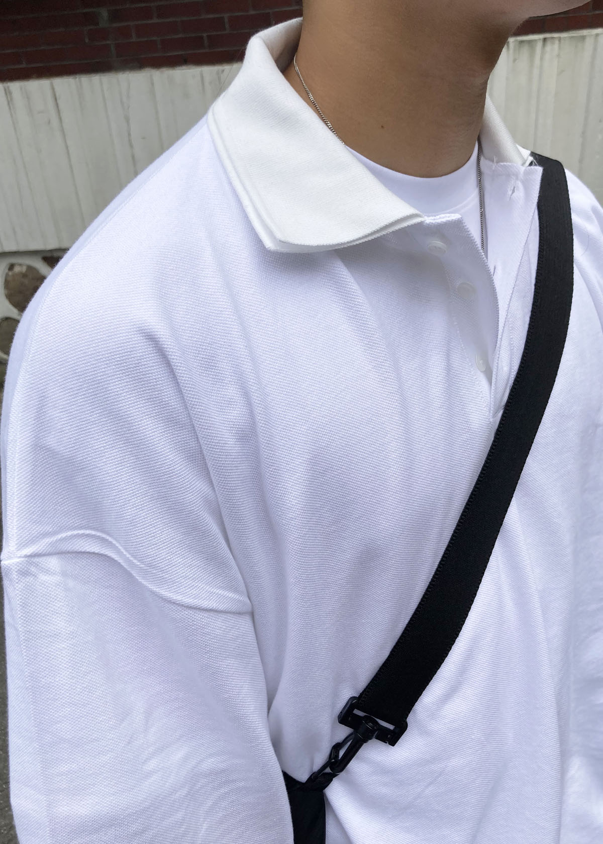 Double Collar-neck Over Tee (2Color)