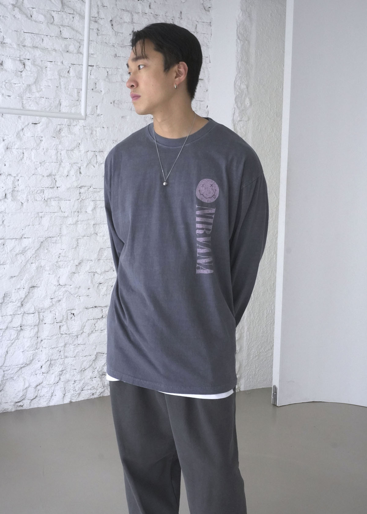 Nirvana Nevermind Dying Long Sleeve Tee (2Color)