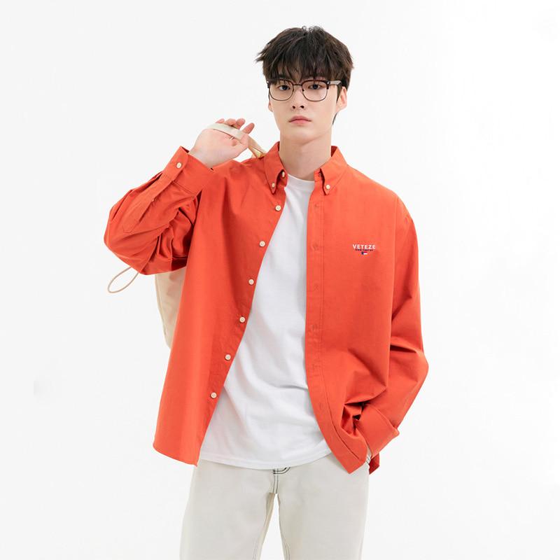 [더미드나잇로맨스 지환님 착용]Signature Basic Shirt (orange red)