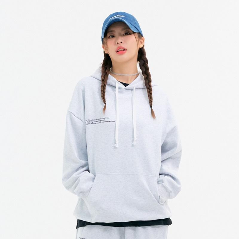 [10/29일 예약배송] Message Hoodie (light grey)