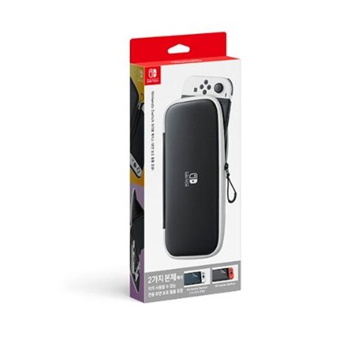 닌텐도 스위치 정품 휴대용 케이스 (OLED 모델) 화면보호 필름 포함