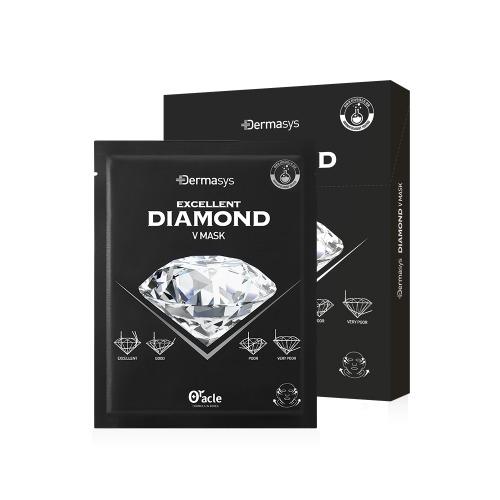 Dermasys®  다이아몬드 브이 마스크(텐션-업)1BOX-5개입