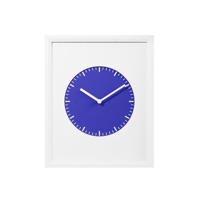 프레임 벽시계 컬렉션 - 블루